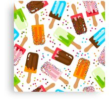 Fruit and chocolate ice cream Canvas Print