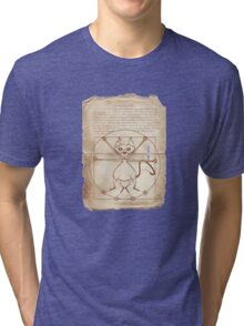 KINKY KITTY - The Kinky Vitruvian Kitty Tri-blend T-Shirt