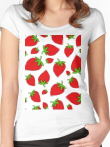 Strawberry vs. Fresas Women's Fitted Scoop T-Shirt