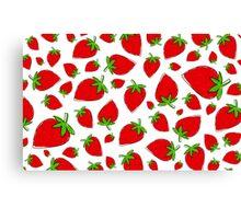 Strawberry vs. Fresas Canvas Print