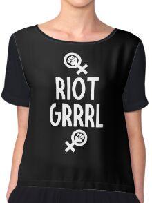 Riot Grrrl Chiffon Top