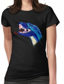 Blue Snake Head Womens Fitted T-Shirt