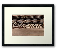 Thomas Name Badge Framed Print