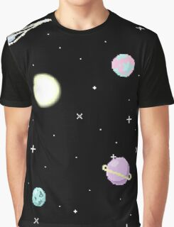 Pixel Space Graphic T-Shirt