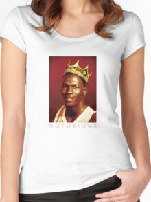 Notorious Michael jordan chicago Women's Fitted Scoop T-Shirt