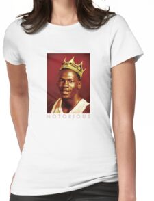 Notorious Michael jordan chicago Womens Fitted T-Shirt