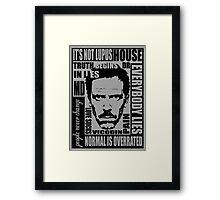 House MD Framed Print