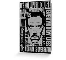 House MD Greeting Card