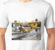 Women fly: float plane, Lake Hood, Alaska Unisex T-Shirt