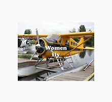 Women fly: float plane, Lake Hood, Alaska Unisex T-Shirt