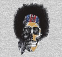 Hendrix Skull in color by sastrod8