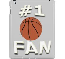 Number One Basketball Fan iPad Case/Skin