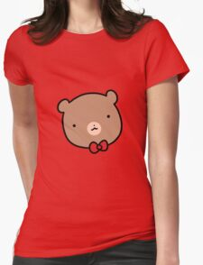Red Bow Tie Beat Womens Fitted T-Shirt