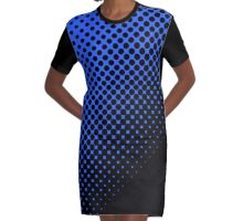 DOTTED BLUE Graphic T-Shirt Dress