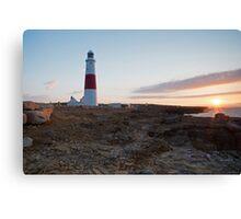 Sunrise at portland Bill Canvas Print