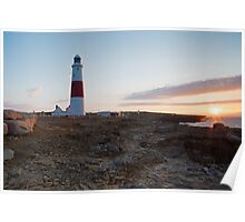 Sunrise at portland Bill Poster