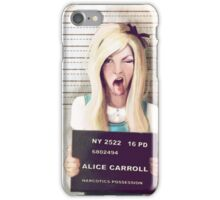 Alice mugshot iPhone Case/Skin