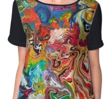 color spill Chiffon Top