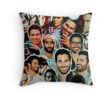 Tyler Hoechlin Collage Throw Pillow