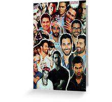 Tyler Hoechlin Collage Greeting Card