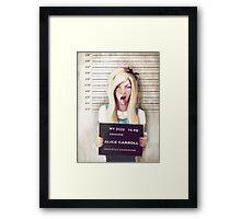 Alice mugshot Framed Print