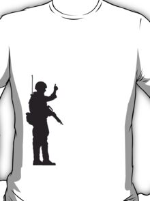 Soldier OK hand sign thumbs up T-Shirt