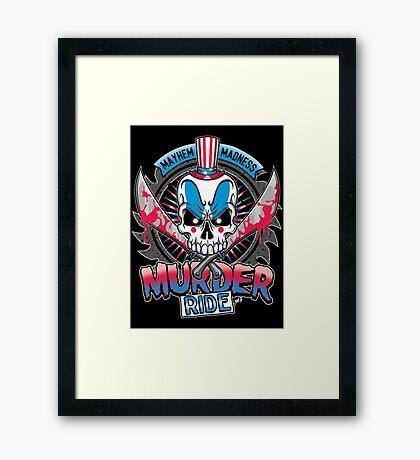 Murder Ride Framed Print