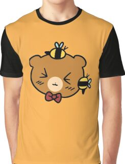Bumble Bee bear Face Graphic T-Shirt