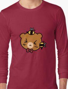 Bumble Bee bear Face Long Sleeve T-Shirt