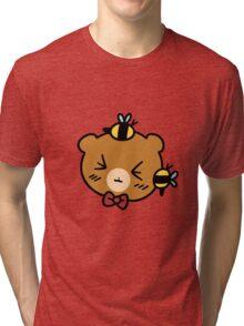 Bumble Bee bear Face Tri-blend T-Shirt