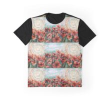 Orange poppy field Graphic T-Shirt