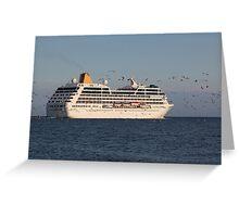Cruise ship ADONIA Greeting Card