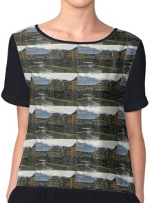 Light Trails on the Arno - Florence, Italy Chiffon Top
