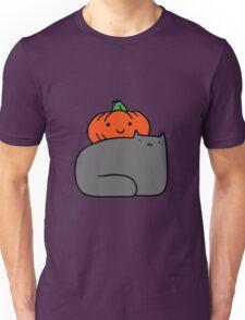 Cat and Pumpkin Unisex T-Shirt