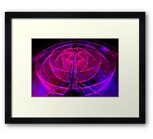 Wheel of Light - Dark Mofo 2014 Framed Print