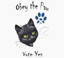 Obey the Cat Paw Scottish Independence T-Shirt by simpsonvisuals