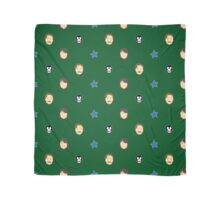 Vince and Howard pattern on zoo-green Scarf