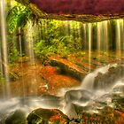 Somersby Falls .. Behind the Veil .. HDR by Michael Matthews