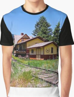 Wagon Wheel Gap Train Station Graphic T-Shirt