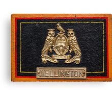 Wellington Name Badge Canvas Print