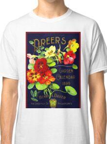 """DREERS"" Vintage 1899 Garden Calendar Print Classic T-Shirt"