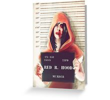 Red ridding hood mugshot Greeting Card