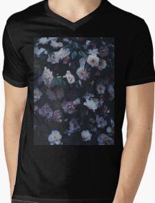 Dark Flowers Mens V-Neck T-Shirt
