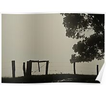 Fenced in Fog Poster