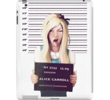 Alice mugshot iPad Case/Skin