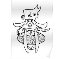 Underwater mermaid Walrusbunny Original Cartoon Poster