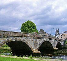 The Three Arches Of Totnes Bridge by lezvee