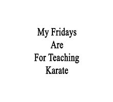 My Fridays Are For Teaching Karate  by supernova23