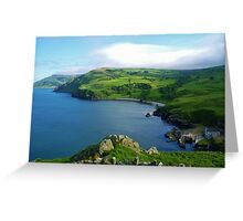 Torr Head  Harbour County Antrim Ireland  Greeting Card