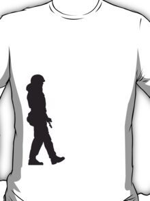 Marching patrol soldier T-Shirt
